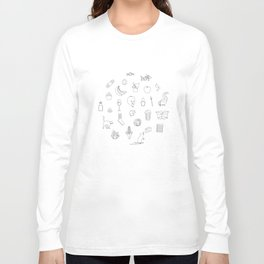 Beer Off Flavors (Black & White) Long Sleeve T-shirt