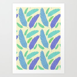 Patterned Feather Pattern Art Print