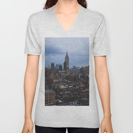 Empire State Building and the Manhattan skyline Unisex V-Neck