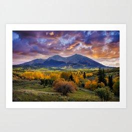 Mount Sopris Art Print