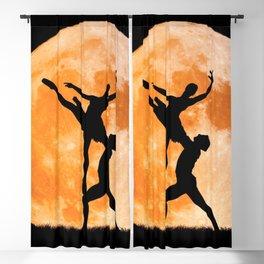 Gorgeous Lovely Man Woman Acrobatics Moon Shine High Definition Blackout Curtain