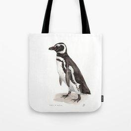Penguin Watercolor Painting Tote Bag
