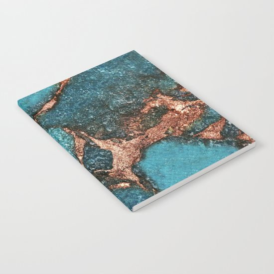 AQUA & GOLD GEMSTONE Notebook