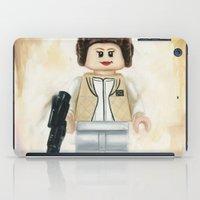 princess leia iPad Cases featuring Lego Princess Leia by Toys 'R' Art