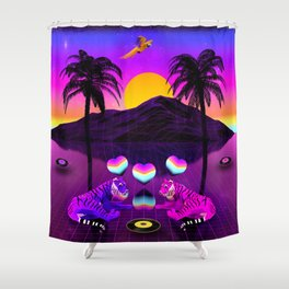 Guardians of the Hearts Shower Curtain