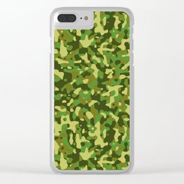Flecktarn Jungle Camo Clear iPhone Case