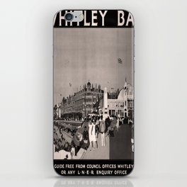 retro dark Whitley Bay old psoter iPhone Skin