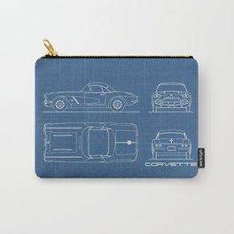 The Corvette C1 Blueprint Carry-All Pouch