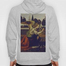 """Leonardo da Vinci """"Annunciation 1. (Archangel Gabriel)"""" Hoody"""