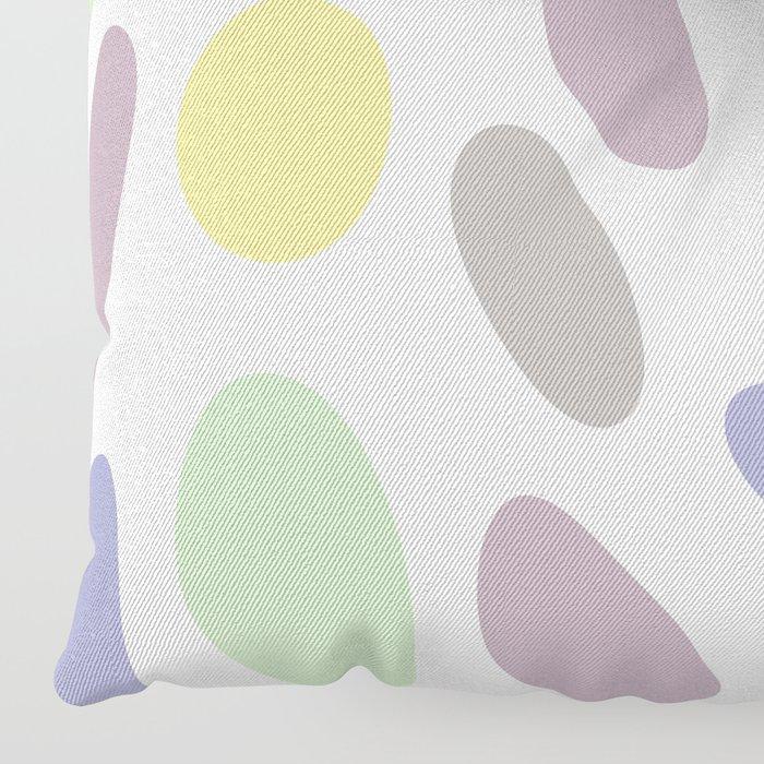 Pebbles yellow green purple pattern Floor Pillow