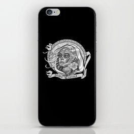 Black and White Catrina (Day of the Dead) iPhone Skin