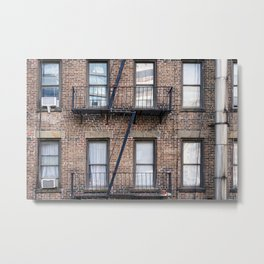 New York Fire Escape Metal Print