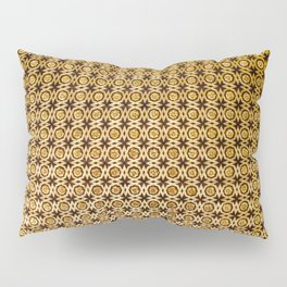 Gold and wood carving pattern Pillow Sham