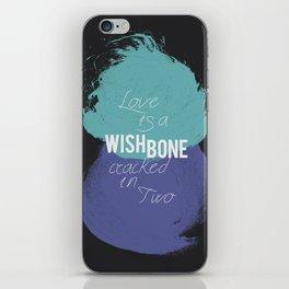 Wishbone Love iPhone Skin