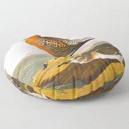 Red-breasted Sandpiper Bird Floor Pillow