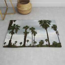 Cloudy Day Palms on the Hillside Rug