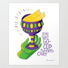 Go-Cups Art Print