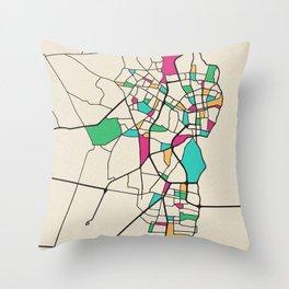 Colorful City Maps: Maracaibo, Venezuela Throw Pillow
