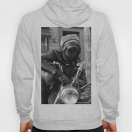 Sloth on a motorcycle Hoody