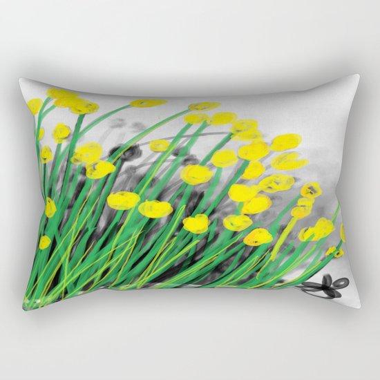 Yellow Flowers! Rectangular Pillow