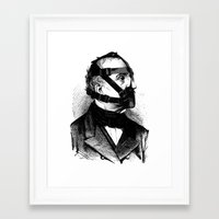 bdsm Framed Art Prints featuring BDSM XXXX by DIVIDUS