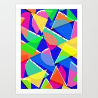 80s Art Prints featuring 80s shapes by Sarah Bagshaw
