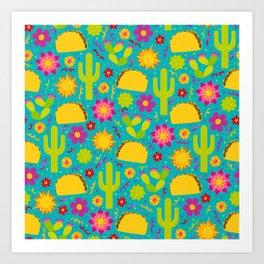 Taco Garden Art Print