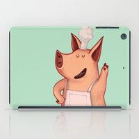 piglet iPad Cases featuring Dress the Piglet by Anna Cannuzz
