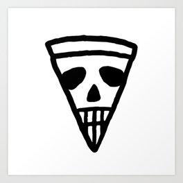 Pizza Skull Art Print