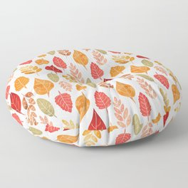 Painted Autumn Leaves Pattern Floor Pillow