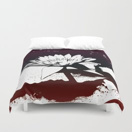 Stylized Water lily Duvet Cover
