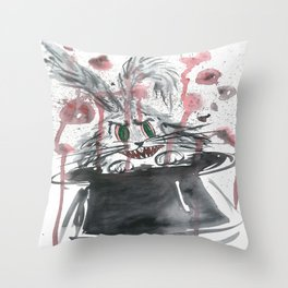 Happy bunny Throw Pillow
