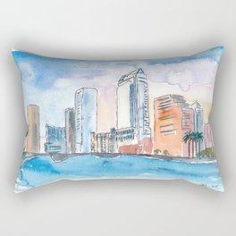 Austin Texas Skyline During Sunset Rectangular Pillow