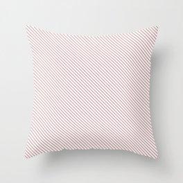 Bridal Rose Stripe Throw Pillow