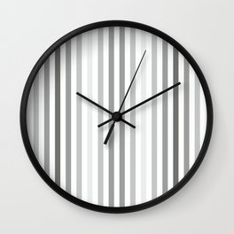 Light ombre stripes in grayscale. Wall Clock