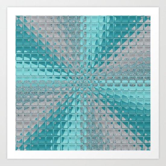 Aqua Reflections Art Print