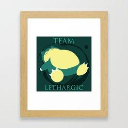 Team Lethargic Framed Art Print