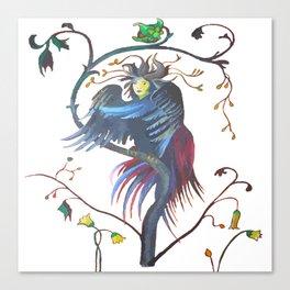 Gamaun Halloween Prophetic Raven Vector Canvas Print