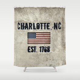 Tribute to Charlotte, NC, EST. 1768 Shower Curtain