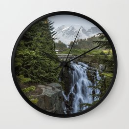 Mount Rainier and Myrtle Falls, Late Afternoon Wall Clock