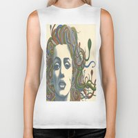 marylin monroe Biker Tanks featuring Medusa Monroe  by Ty McKie Creations