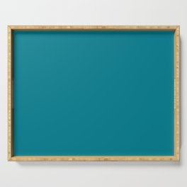 Teal Solid Serving Tray