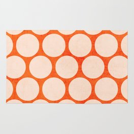 orange and white polka dots Rug