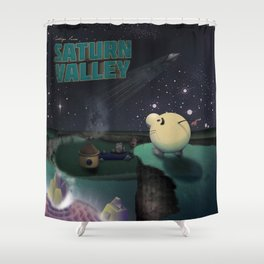 Earthbound - Greetings From Saturn Valley Shower Curtain