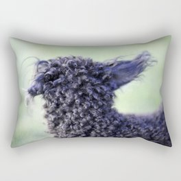 Poodle Ears in Color Rectangular Pillow
