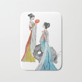 Two ancient Chinese beauties Bath Mat