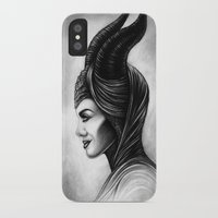 maleficent iPhone & iPod Cases featuring Maleficent  by Denda Reloaded