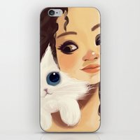 sister iPhone & iPod Skins featuring Sister by cennet kapkac