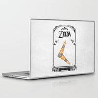 the legend of zelda Laptop & iPad Skins featuring Zelda legend - Boomerang by Art & Be