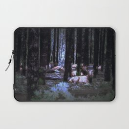 Faces in the Woods mod Laptop Sleeve